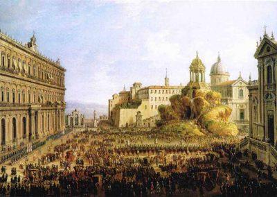 Largo di Palazzo con una cuccagna, metà XVIII sec.