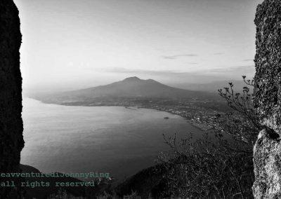 Il-Vesuvio dall'ex neviera del Monte-Faito
