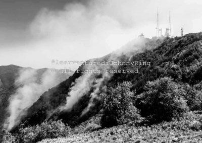 Monte-Faito, focolai di incendio sul versante di Pimonte, 2017