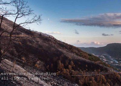 Monte Faito, imbrunire con luna