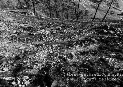 Monte Faito, terra bruciata